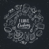 Cooking poster Stock Image