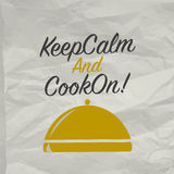 Cooking poster with tray Royalty Free Stock Images