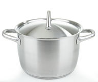 Cooking pot. Isolated cooking pot on white royalty free stock photography