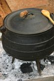 Cooking pot. African traditional cooking Stock Photo