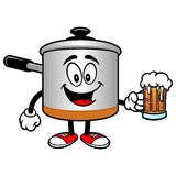 Cooking Pot with a Beer Royalty Free Stock Photography