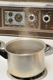 Cooking pot with boiling water Royalty Free Stock Images