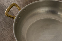 Cooking Pot Brass Handle and Interior Royalty Free Stock Images