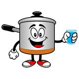 Cooking Pot with a Cup of Water Royalty Free Stock Photography