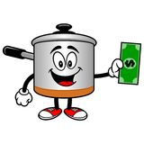 Cooking Pot with a Dollar Royalty Free Stock Photo