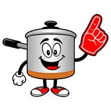 Cooking Pot with a Foam Finger Royalty Free Stock Photos