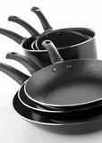 Cooking pot and frying pan Royalty Free Stock Photography