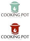 Cooking pot icons Stock Photos