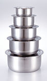 Cooking Pot made of stainless steel. Kitchenware Stock Images