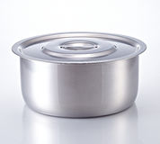 Cooking Pot made of stainless steel. Kitchenware Royalty Free Stock Photo