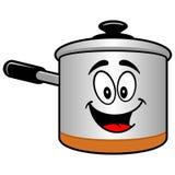 Cooking Pot Mascot Stock Image