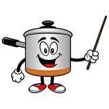 Cooking Pot with a Pointer Stock Images