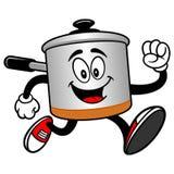 Cooking Pot Running Royalty Free Stock Photos