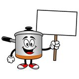 Cooking Pot with a Sign Stock Photography