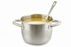 Cooking pot with soup Royalty Free Stock Photography