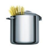 Cooking pot spaghetti Royalty Free Stock Photo