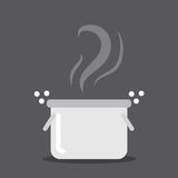 Cooking Pot Steam Royalty Free Stock Photos