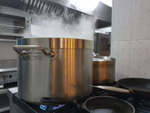 Cooking pot on stove Royalty Free Stock Image