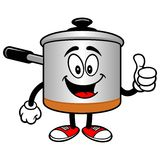 Cooking Pot with Thumbs Up Stock Images