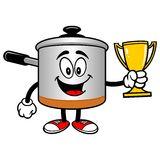 Cooking Pot with a Trophy Royalty Free Stock Images