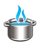 Cooking in the pot Stock Images