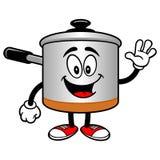 Cooking Pot Waving Stock Photography