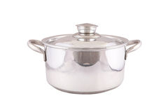 Cooking pot  on white Royalty Free Stock Photo