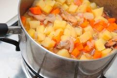 Cooking potato stew Royalty Free Stock Photo