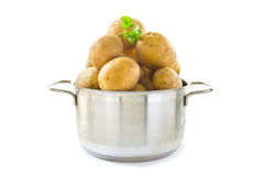 Cooking potatoes stock image