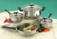 Cooking pots Royalty Free Stock Photos