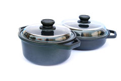Cooking pots Stock Image