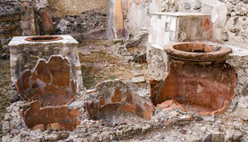 Cooking Pots, Herculaneum Royalty Free Stock Photo