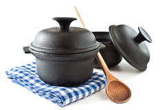 Cooking pots Royalty Free Stock Image