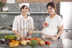 Cooking for pregnant Stock Photos
