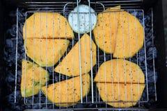 Cooking of pumpkin Stock Photo
