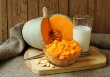 Cooking pumpkin prescription Royalty Free Stock Photography