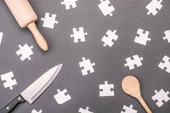 Cooking puzzle Royalty Free Stock Photography