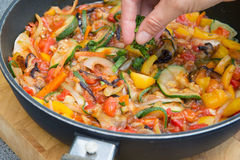 Cooking Ratatouille Royalty Free Stock Photo