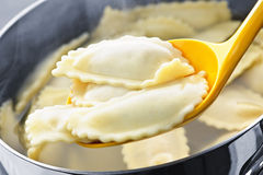 Cooking ravioli Stock Photo