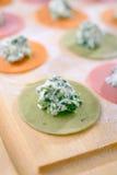 Cooking ravioli Stock Images