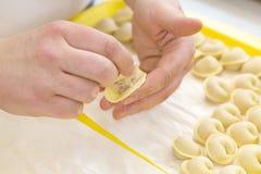 Cooking ravioli Royalty Free Stock Photos