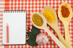 Cooking recipe concept Stock Photography