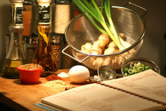 Cooking Recipe ingredients  Stock Image