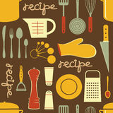 Cooking recipe pattern. Retro style Cooking recipe seamless  pattern. Vector format Stock Photos