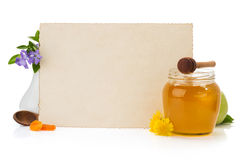 Cooking recipes note paper and spices Stock Photography
