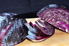 Cooking red cabbage Stock Photography