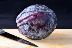 Cooking red cabbage Royalty Free Stock Photography