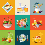 Cooking Restaurant and Vegetarian food Royalty Free Stock Images