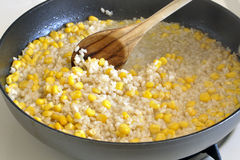 Cooking rice and corn Royalty Free Stock Photos