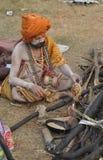 Cooking sadhu Royalty Free Stock Images